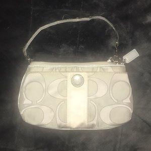 Coach light gray wallet/wristlet